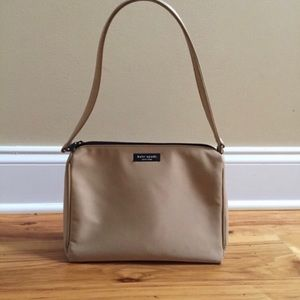kate spade Camel Nylon Claire Shoulder Bag Purse